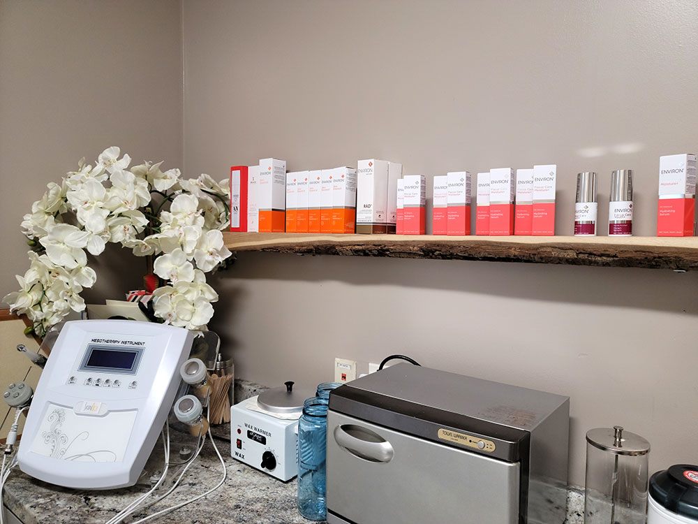 facial products in spa